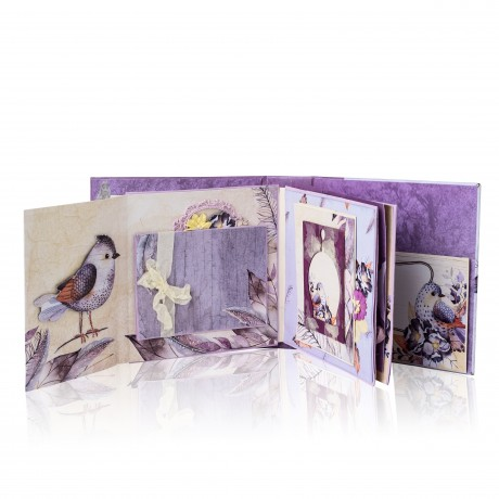 מארז קארדסטוקים סגול, מארז קארדסטוקים לבנדר בליס, דפים מעוצבים, אלבום סקראפ רומנטי, סקראפבוקינג, Matty's Crafting Joy